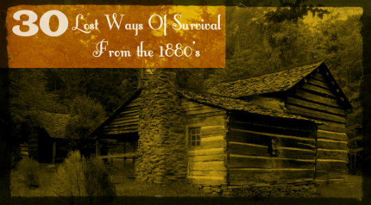 30 Lost Ways Of Survival From The 1880's » TinHatRanch